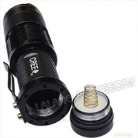 Wholesale black focus powerful sk led lumens adjustable flashlight torch