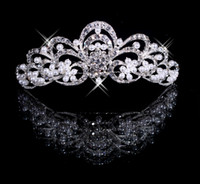 Crown Rhinestone/Crystal  Silver Wedding Bridal crystal veil tiara headband Wedding Crown CU005