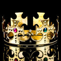 April Fool's Day adult king crowns - 2 Colors Pouplar Adjustable King Crown Adult Costumes Halloween Costumes for Carnival Cosplay Masks MA48