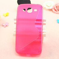 Silicone For Samsung For Christmas Special S Line Wave design Color Silicone Gel Case Soft TPU Cover Back Shell Protector for Samsung Galaxy I9150 i9150 Mega 5.8