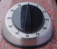 Wholesale Promotion Sale New Silver Mechanical Kitchen Timer Countdown Reminder With Stainless Steel Round Table