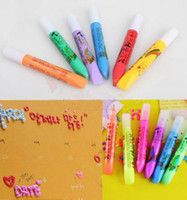 Wholesale Magic DIY Popcorn Paint Pen Puffy Embellish Decorate Bubble Graffiti Stationery H0477