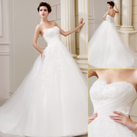 New Style 2013 Cheap Ivory Tulle A Line Sweetheart Appliques...