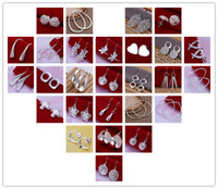 Wholesale hot New mixed pair Lady girl earring sterling silver jewelry factory price Fashion Jewelry Manufacturer