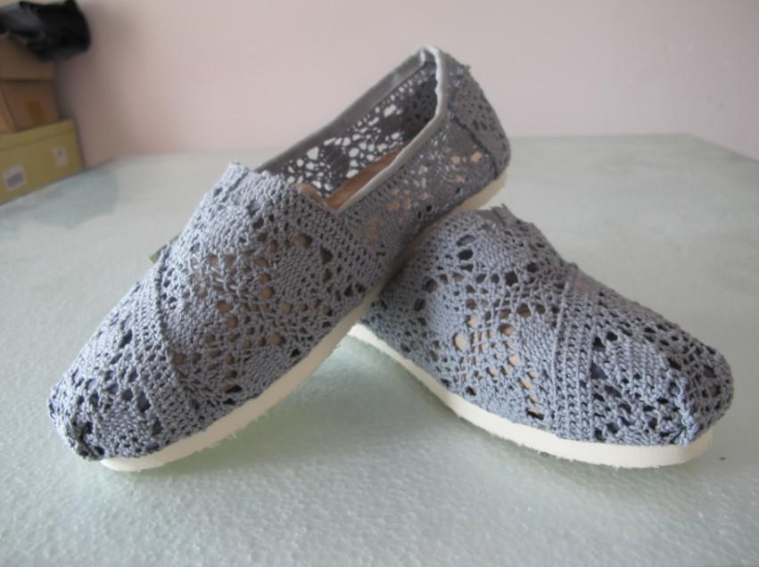 women fashion openwork crochet flat shoes canvas shoes hollow out