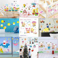 PVC beautiful baby rooms - EMS Beautiful Baby Nursery Wall stickers designs cartoon animals Removable Wall Decal kids bedroom art Stickers room decals cm t5432
