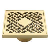 Wholesale Brand New brass Shower Drain Floor Drain Chrome Finish