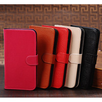 Leather For Samsung For Christmas Galaxy Mega 5.8 genuine leather Case Pouch for samsung 5.8 inch phone Free ship