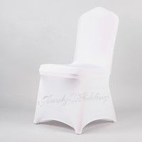 Cheap Wedding Chair spandex chair cover Best Spandex / Polyester White chair cover