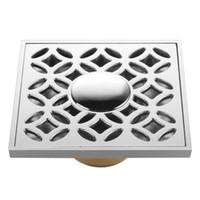 Wholesale Brand New brass Shower Drain Floor Drain Chrome Finish
