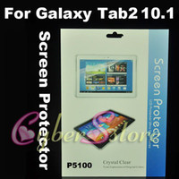 Wholesale 250pcs Clear Crystal Screen Protector Film Guard With Retail Package For Samsung Galaxy Tab P5100 P5110