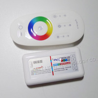 Wholesale 2 G RF Touch Screen LED controllers remote control RGBW RGBWW strip lighting with Touch Ring Keys V V