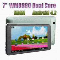 Wholesale 7 quot Dual Core VIA WM8880 P HDMI dual camera Android jelly bean GHz Cortex A9 Q88 Pro VIA8880 Tablet PC MID V7 dualcore