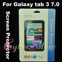 Wholesale 250pcs Clear Crystal Screen Protector Film Guard With Retail Package For Samsung Samsung Galaxy tab quot P3200