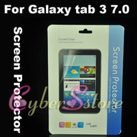 Wholesale 100pcs Clear Crystal Screen Protector Film Guard With Retail Package For Samsung Samsung Galaxy tab quot P3200