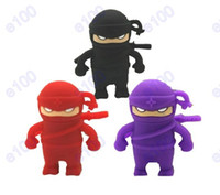 Wholesale 2GB GB GB GB GB Ninja robot cartoon USB Flash Memory Pen Drive Sticks Thumb Drives Disks Discs Pendrives X098J