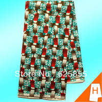 Wholesale Shipping free high quality african printed wax cotton hollandais wax fabric Yards