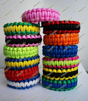 Wholesale Sale Paracord Bracelet Outdoor Bracelet Survival Escape Life saving Bracelet Handmade Bracelets Sports Bracelets Mixed Color