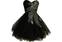 A-Line Modern Embroidery 2013 New Party Dresses A Line Sweetheart Neckline Black Color Tulle Embroidery Girls Short Summer Dresses ZJ133