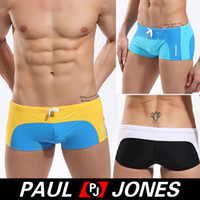 Men Cotton Boxers & Boy Shorts high quality Sexy Mens mans Splice Swimwear Trunk Boxer Briefs 4 Size S~XL 3 colors CL4217