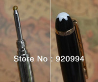 Wholesale HIGH QUALITY BEST DESIGN BLACK AND GOLDEN MONT BALLPOINT PEN