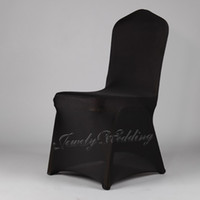 Spandex / Polyester Black banquet chair /folding chair Hot Sale black spandex chair cover High quality lycra chair cover for wedding or banquet party