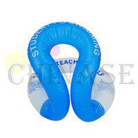 Wholesale free ship adult swimming vest inflatable life vest swimming circle swimming ring floating ring U armpit floating ring without safety clasp