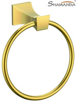 Wholesale Towel Ring Towel Holder Solid Brass Construction Golden finish Bathroom Hardware Bathroom Accessories