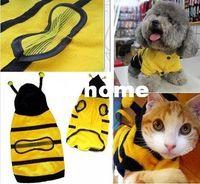 Dresses bee doggie - Cute Pet Dog Cat Bumble Bee Dress Up Costume Apparel Doggie Hoodies Coat Clothes Size XS S M L XL