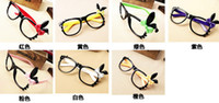 Wholesale Mix colours New Peach Heart and bow glasses frame Sunglasses Eyeglasses