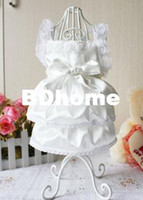 Dresses Clothing Dogs Luxury White Party Wedding Dog clothes Princess Pet Clothes Dress S,M,L