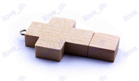 Wholesale 2GB GB GB GB GB wooden cross USB Flash Memory Pen Drive Sticks Thumb Drives Disks Pendrives Thumbdrives E083R