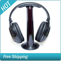 Wholesale 6 In Headphone Headset Wireless Microphone for Laptop HDTV