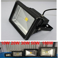 Wholesale 2014 new LED flood light W W W W W V High Power Landscape Lighting waterproof LED Floodlight Outdoor Black paint