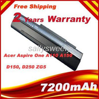 Wholesale 9 Cell high quality Laptop Battery FOR Acer Acer Aspire One A110 A150 One D150 D250 One ZG5 UM08A31 UM08A41 UM08A51 UM08A52