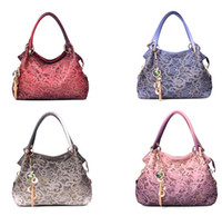 Wholesale 2013 HOT New popular Korea Fashion Style Women s Hollow out PU Leather Handbag Lady Tote Shoulder Bags