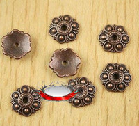 Wholesale 300Pcs Ancient Copper Alloy Retro Six Petal Flower Bead Cap Jewelry Accessories