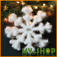 Wholesale Christmas Three Dimensional Snowflakes White High grade PVC Christmas Snowflakes Christmas Ornament Christmas Gifts Size