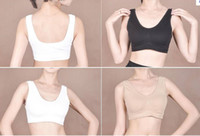 Wholesale Fashion Seamless genie with Removable Pads Microfiber Pullover Underwear Bras sets colours