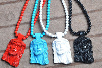 Wholesale Pieces Goodwood NYC Jesus Christ Pendant Necklace Wooden Neklace Fashion Hip hop wooden Necklace Good quality Men Jewelry