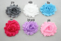 Wholesale 2 quot chic shabby flowers shabby frayed chiffon flowers mini shabby chiffon flower trim rosette trim