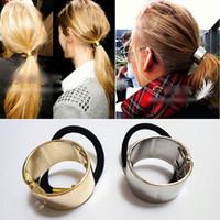 fashion hair circle - New Fashion Elegant Hot Fashion Women Punk Metal Circle Hair Cuff Rope Band Hair Accessories