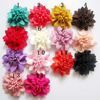 Wholesale 2013 New Styles colors cm Mini Satin Flowers Silk Flower Baby Headband Accessory