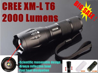 Wholesale UltraFire CREE XM L T6 Lumens High Power Torch Zoomable LED Torch flashlight For xAAA or x18650