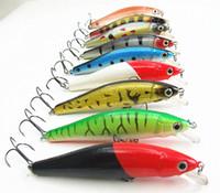 Wholesale 8 cm g Fishing Tackle Minnow Bait Fishing Lures Swimbaits Hard Bait false bait plastic lip china hook floating type