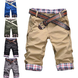 Wholesale We Best Hot Sale male s leisure casual short trousers man s shorts black gray khaki Drop Shipping Q159