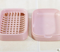 Wholesale plastic soap dish Quality soap dish layer draining soap box soap dish for promotion