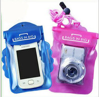 Wholesale High Quality Waterproof Case Camera Bags Pocket Digital Camera Cases PVC Pink Blue