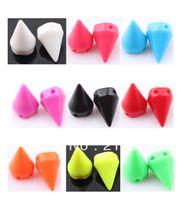 acryl beads - mm Plastic Shamballa Spikes Beads Acryl Circular Cone Rivet Stud Spike Fit Shamballa Jewelry