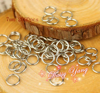 Wholesale 7mm silver Open Jump Rings Jewelry Making Findings